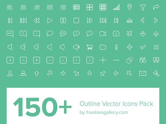 150线框矢量图标 EPS + PNG 发布者: 枫之夜叉