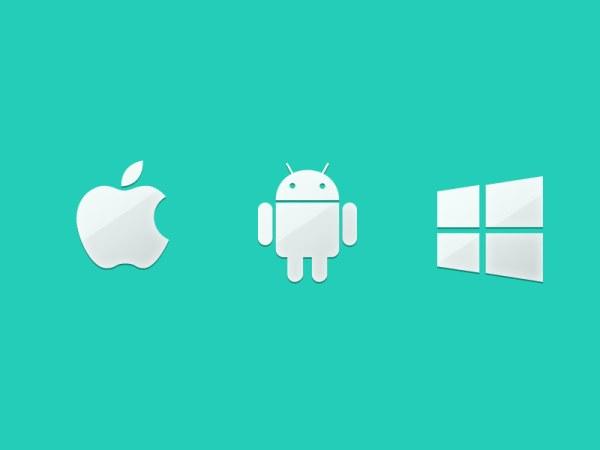 手机系统图标 安卓苹果windowsphone