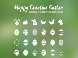 复活节彩蛋 白兔 小鸡 鸭子小图标 发布者: yecha