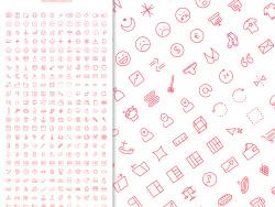 300个红色线条网页用优质icons图标 发布者: majingxiang