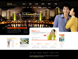 韩国经典大气网站模板 发布者: majingxiang