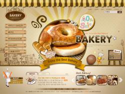 韩国甜品糕点美食类网站psd模板 发布者: majingxiang