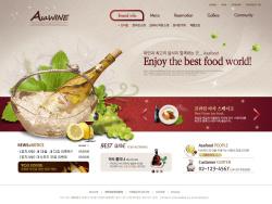 韩国酒类美食企业网站psd模板 发布者: majingxiang